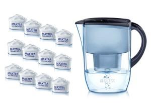 Wasserfilter Kalk Brita Fjord Jahrespackung lim. Edition mitternachtsblau